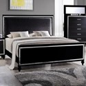 Elements International  Miami Queen Upholstered Bed - Item Number: MM800QB