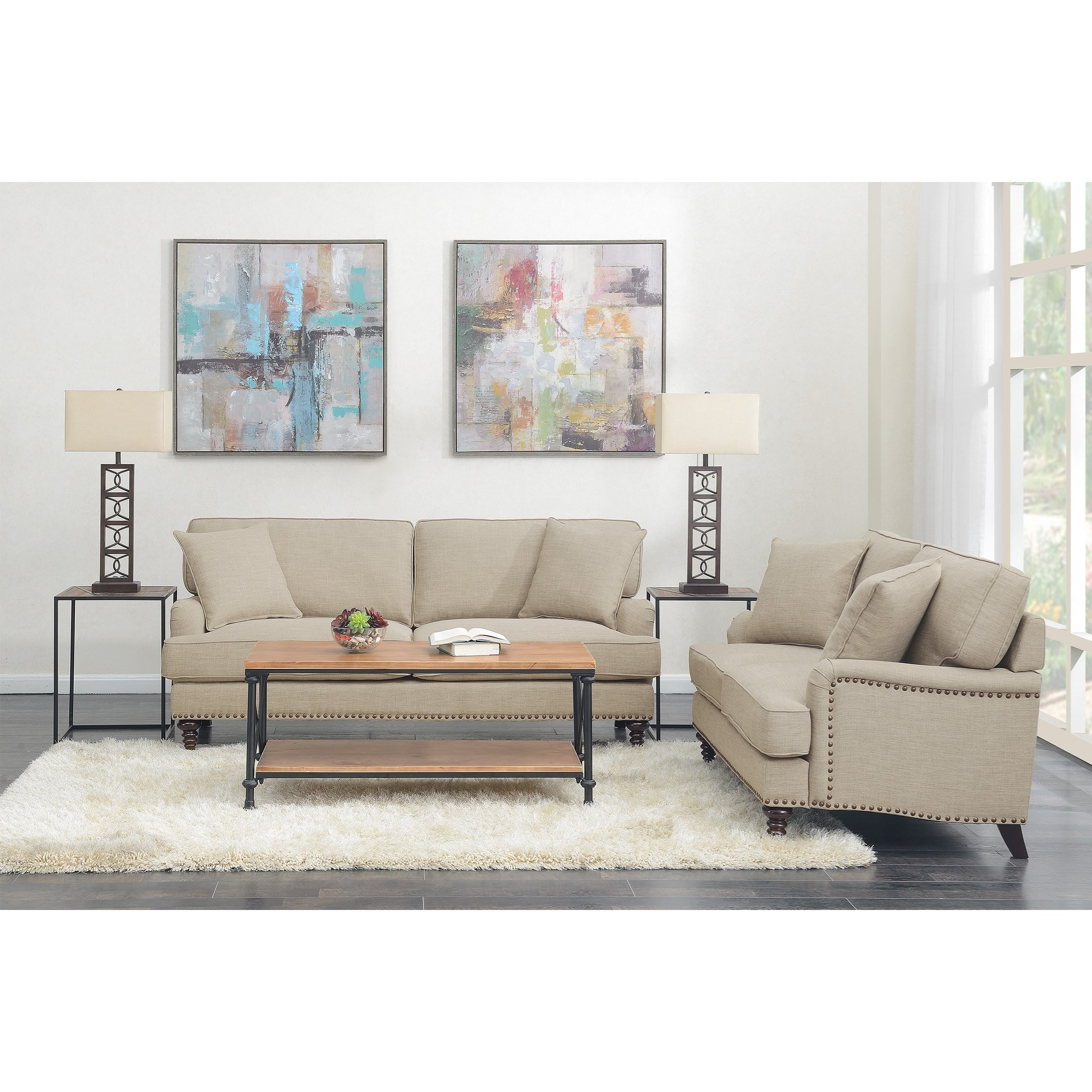 Abby 2PC Set-Sofa & Loveseat by Elements International at Wilcox Furniture