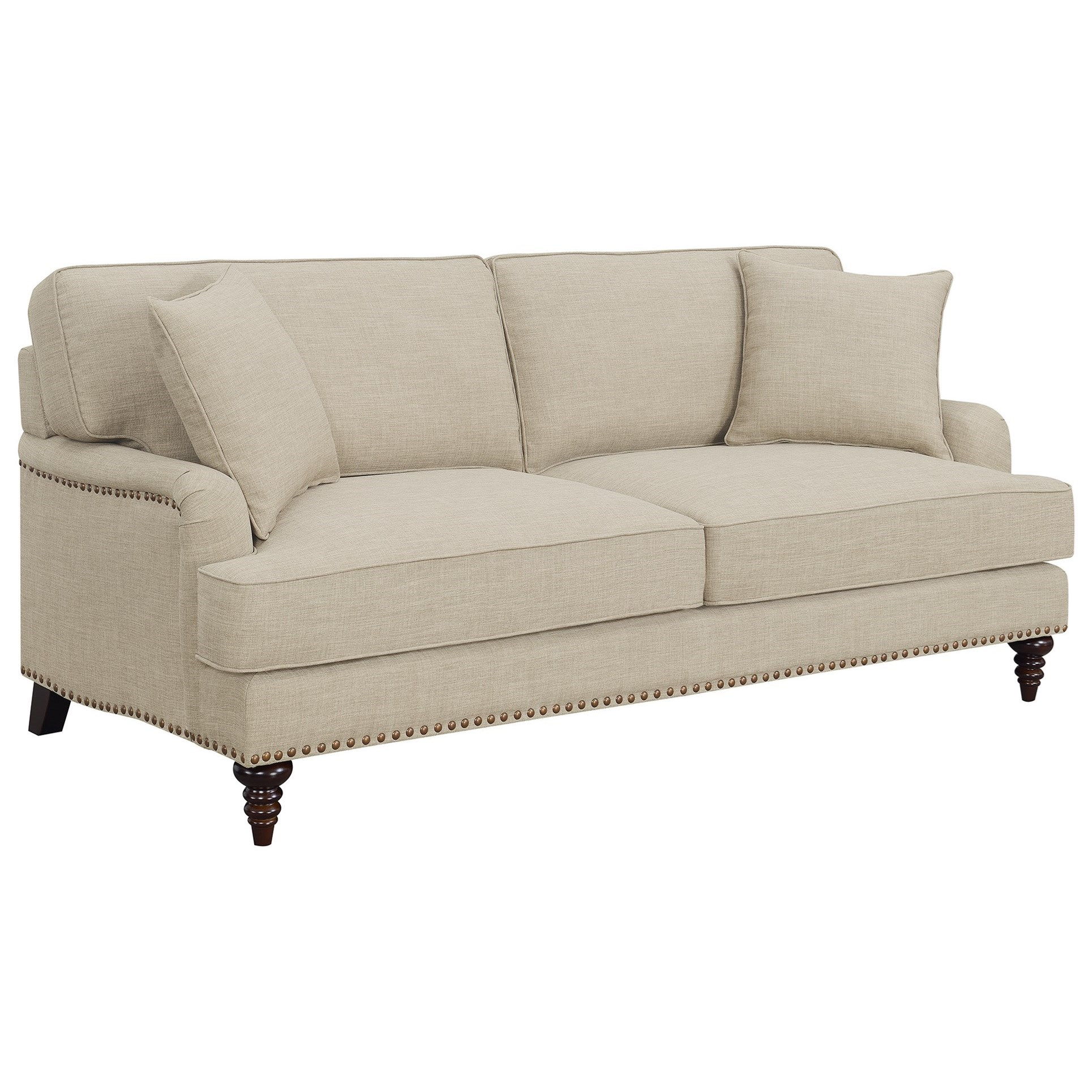 Abby Sofa w/ Pillows by Elements International at Wilcox Furniture