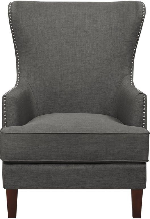 Cody Charcoal Wing Chair