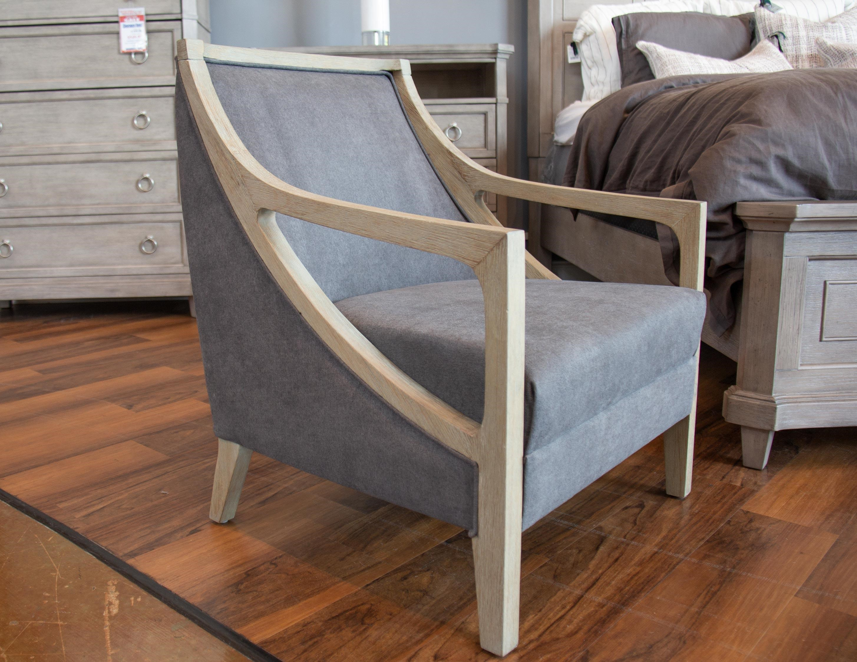 Hopkins Charcoal Accent Chair with White Was