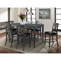 Elements International Alex 7-Piece Dining Set - Item Number: DAX4007CS
