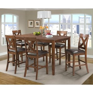 Elements International Alex 7 Piece Dining Set