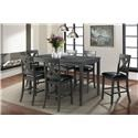Elements Alex Gray 7 Pc Dining Group - Item Number: DAX4007CS