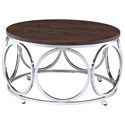 Elements Alexis Round Coffee Table - Item Number: CAX100CTE