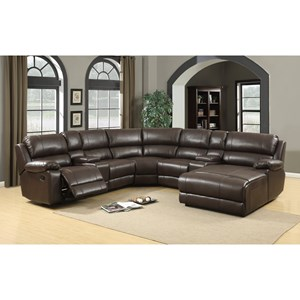Elements International Ashbury Reclining Sectional