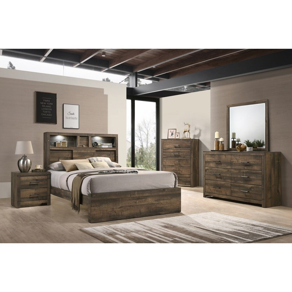Bailey Music Queen Bedroom Group by Elements International at Household Furniture