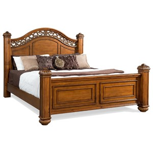 Elements International Barkley Square Queen Bed