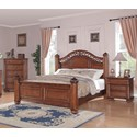 Elements Barkley Square Queen Poster 3-Piece Bedroom Set - Item Number: BQ600QB3PC