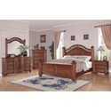Elements Barkley Square Queen Poster 5-Piece Bedroom Set - Item Number: BQ600QB5PC