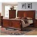 Elements International Bourbon Queen Sleigh Bed - Item Number: BB100QF + QH + QKR