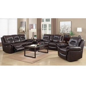 Elements International Belfast Upholstery Reclining Living Room Group