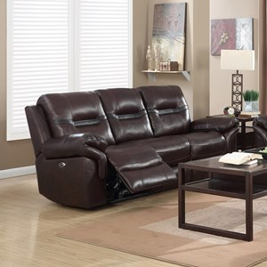 Elements International Belfast Upholstery Reclining Sofa
