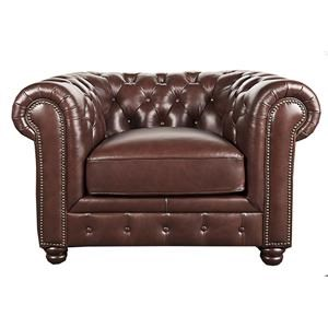 Morris Home Furnishings Breckyn Breckyn Leather-Match* Chair