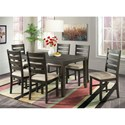 Elements International Brock 7-Piece Dining Set - Item Number: DBR1007DS