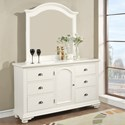 Elements International Brook Classic Dresser with Center Door - Mirror Sold Separately