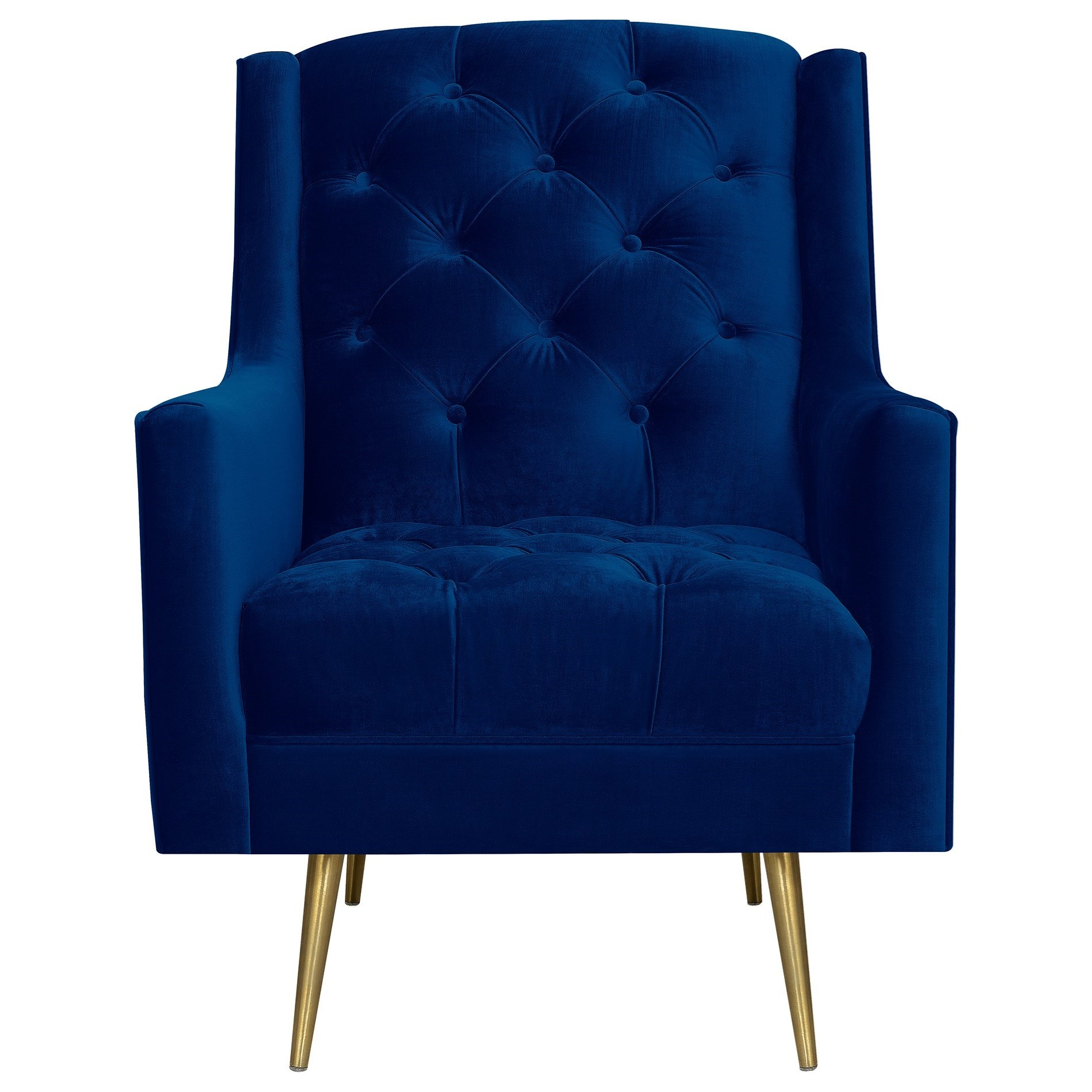 Accent Chair with Gold Legs