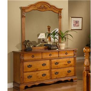 Elements International Bryant Dresser and Mirror Set