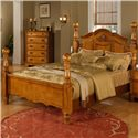 Elements International Bryant Queen Platform Bed - Item Number: BY100QB