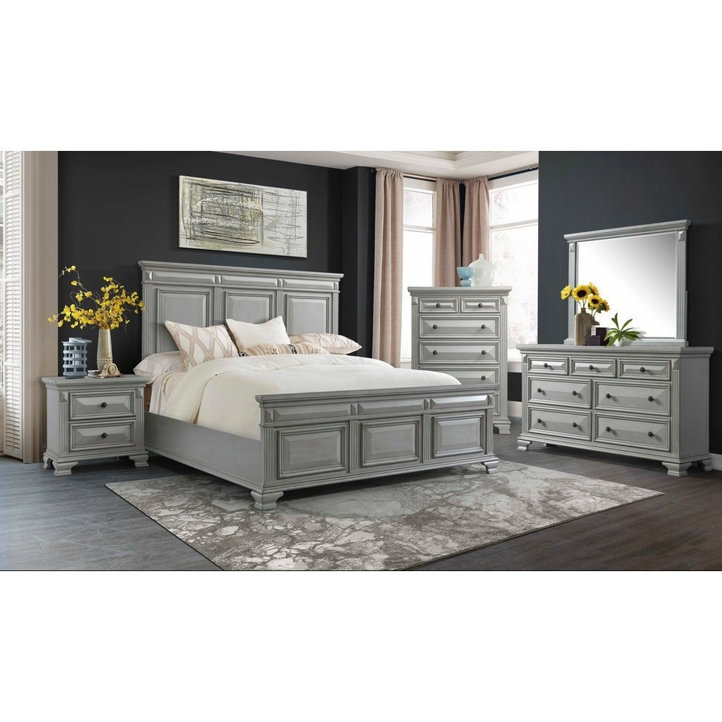 Calloway 5-Piece King Bedroom Group by Elements International at Johnny Janosik