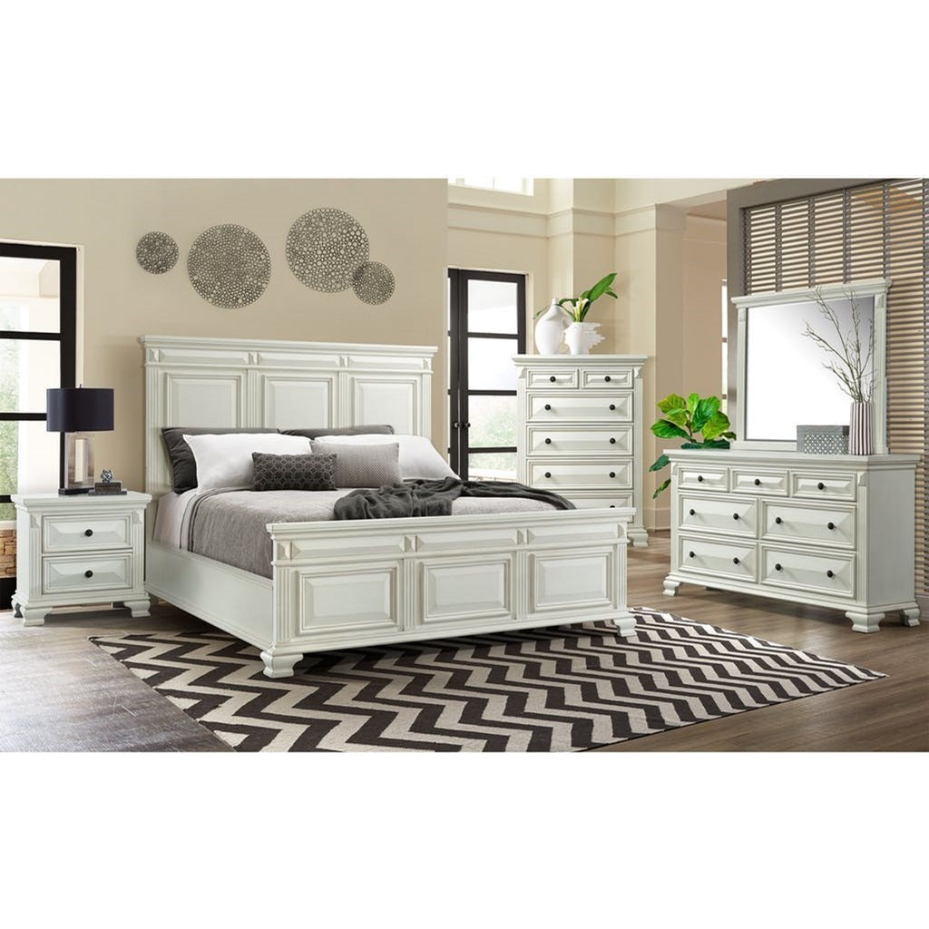 Calloway 5-Piece Queen Bedroom Group by Elements International at Johnny Janosik