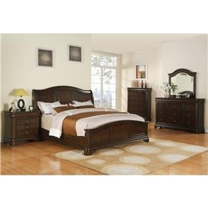 Elements International Cameron California King Bedroom Group