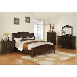 Elements International Cameron Cal King Bedroom Group
