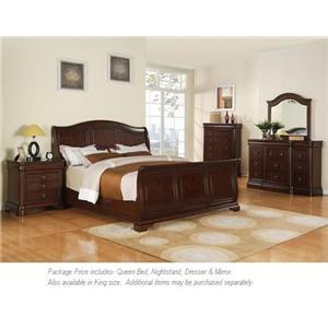 Elements International Cameron 4Pc Queen Bedroom
