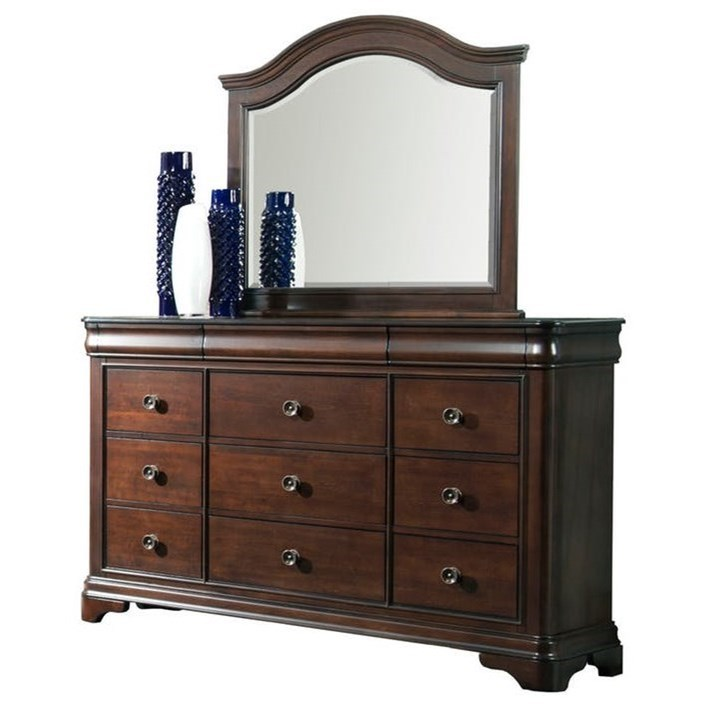 Cameron Dresser & Mirror Set by Elements International at Johnny Janosik