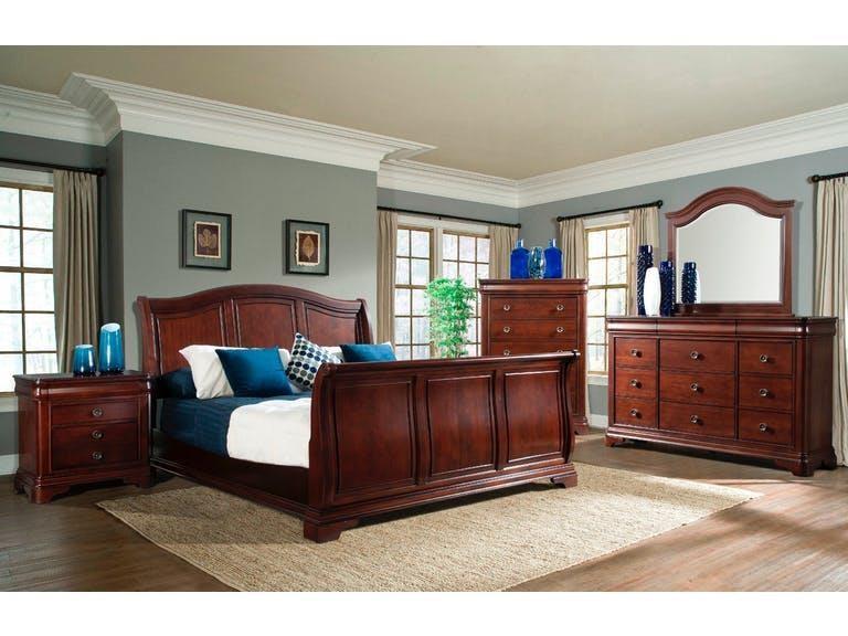 Elements International Cameron King Sleigh Bedroom Group - Item Number: GRP-CM750-KINGSUITE