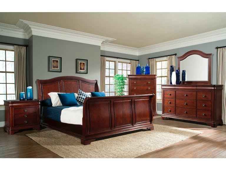 Elements International Cameron Queen Sleigh Bedroom Group - Item Number: GRP-CM750-QUEENSUITE