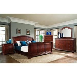Elements International Cameron Queen Sleigh Bedroom Group