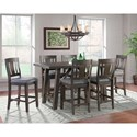 Elements Cash 7-Piece Counter Height Dining Set - Item Number: DCS100C7PC
