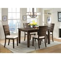 Elements Cato Dining Set with 4 Chairs - Item Number: DCT5505PC