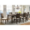 Elements Cato Dining Set with 6 Side Chairs - Item Number: DCT5507PC