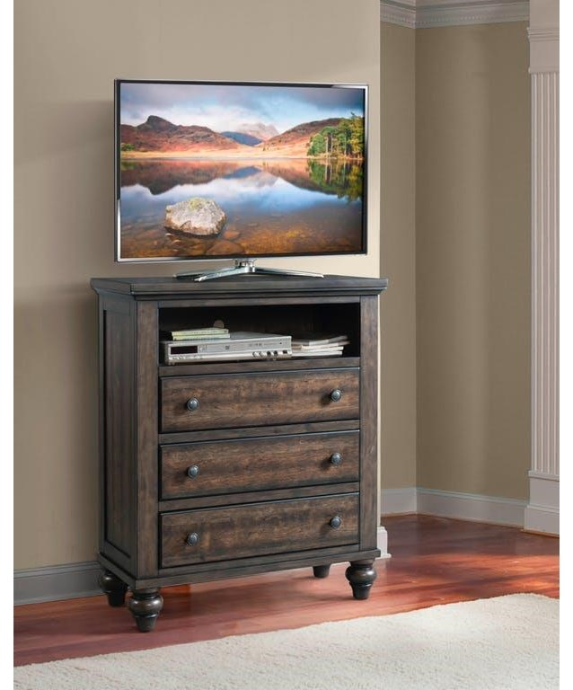 Elements International Chatham Gray Media Chest - Item Number: CH600TV