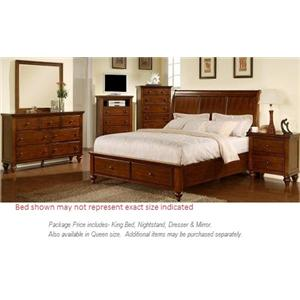 Elements International Chatham 4pc King Bedroom