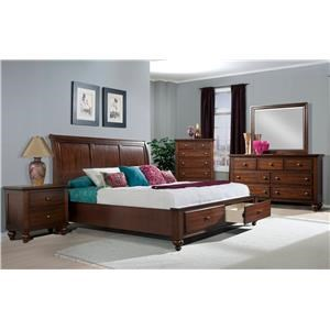 Elements International Chatham 5 Piece Queen Bedroom Group