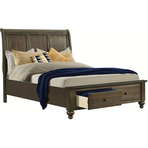 Elements International Chatham Gray Queen Sleigh Bed