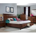 Elements International Chatham King Sleigh Bed with Storage - Bed Shown May Not Represent Size Indicated