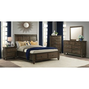 Elements International Chatham Gray King Bedroom Group