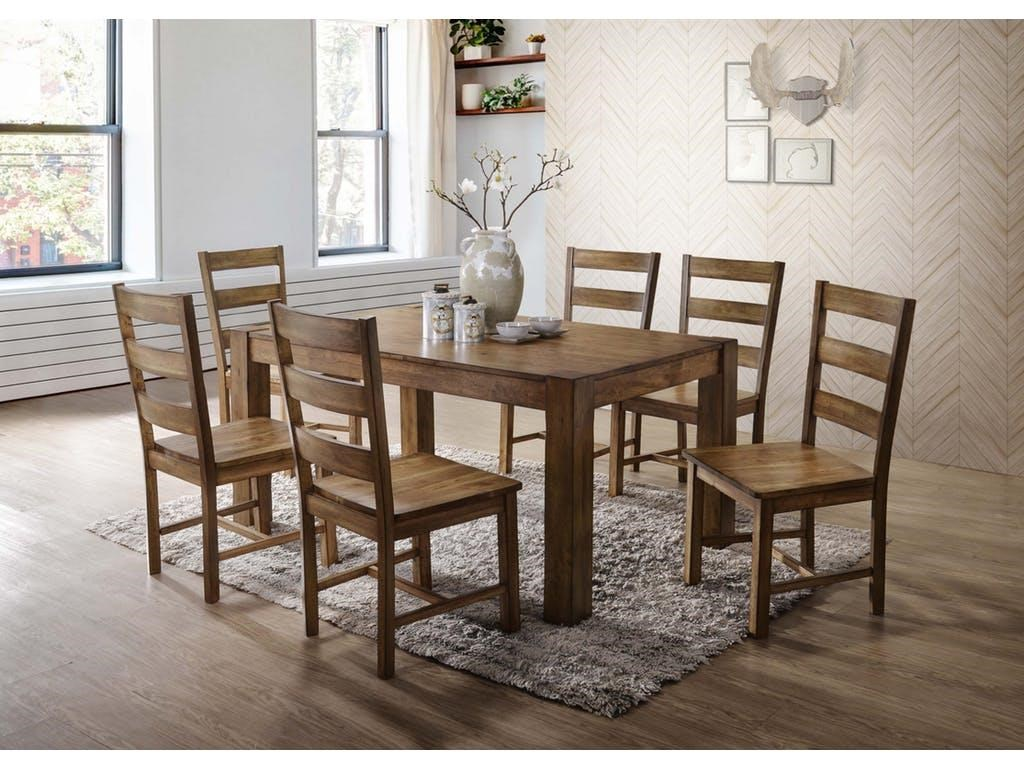 Elements International Cheyenne Table and 6 Chair Set - Item Number: GRP-DCY100-TBL-6
