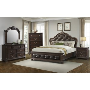 Elements International Classic Queen Bedroom Group