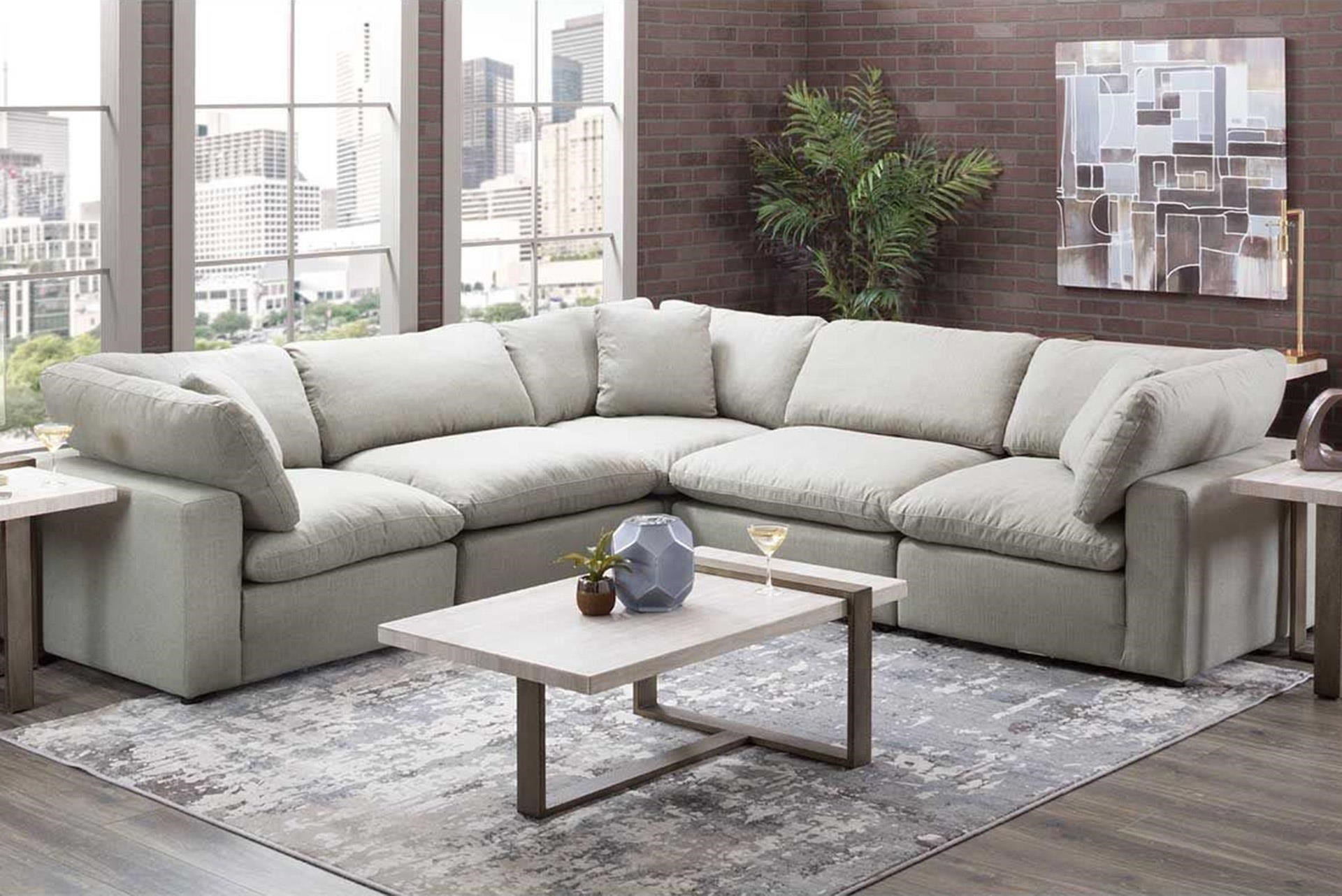 Grey Modular 5-Piece Sectional
