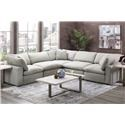 Elements International Cloud 9 Grey Modular 5-Piece Sectional - Item Number: GRP-UCL542XX-5PC