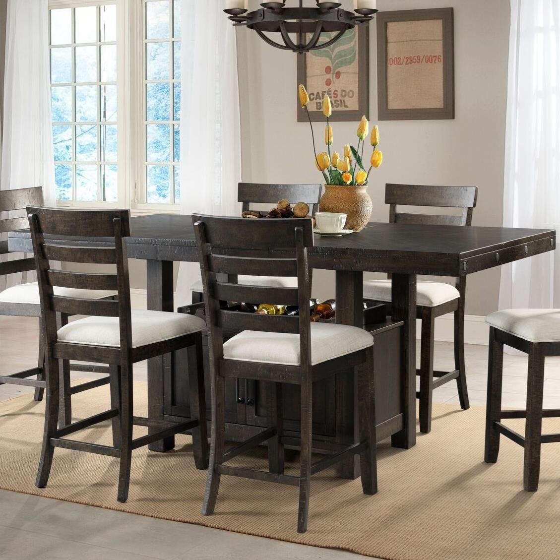 Elements Colorado Counter Height Dining Set With Built In Storage Royal Furniture Pub Table And Stool Sets