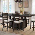 Elements International Colorado Counter Height Dining Set - Item Number: DCO100CDT+CDB+4xCSC