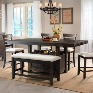Elements International Colorado Counter Height Table