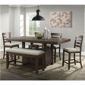Transitional Counter Height Dining Group wit