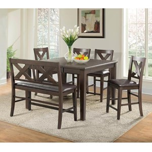 EFO Gumbo Counter Height Table and Chair Set